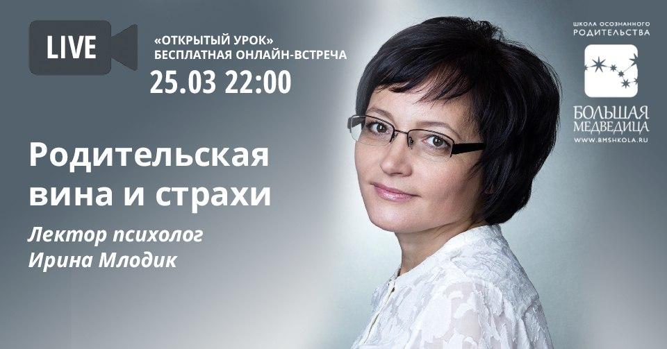 """Родительские вина и страхи"""" Ирина Млодик"""
